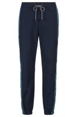 Relaxed-fit joggingbroek van bi-stretchmateriaal, Donkerblauw