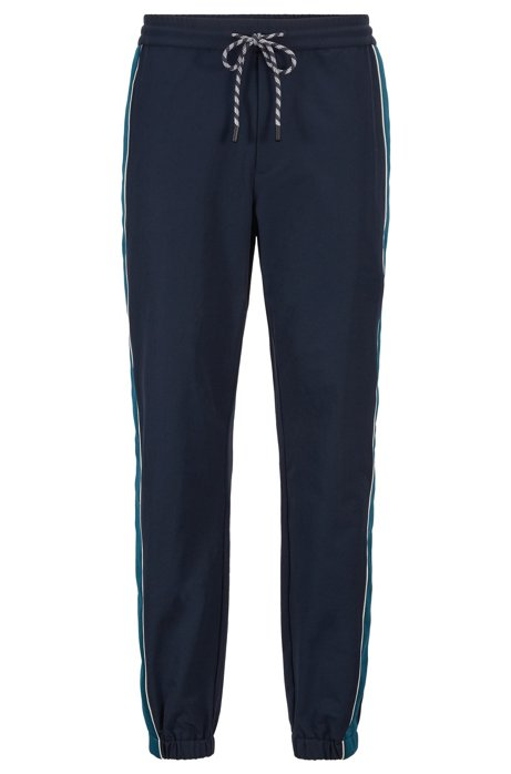Relaxed-Fit Jogginghose aus Bi-Stretch-Gewebe, Dunkelblau
