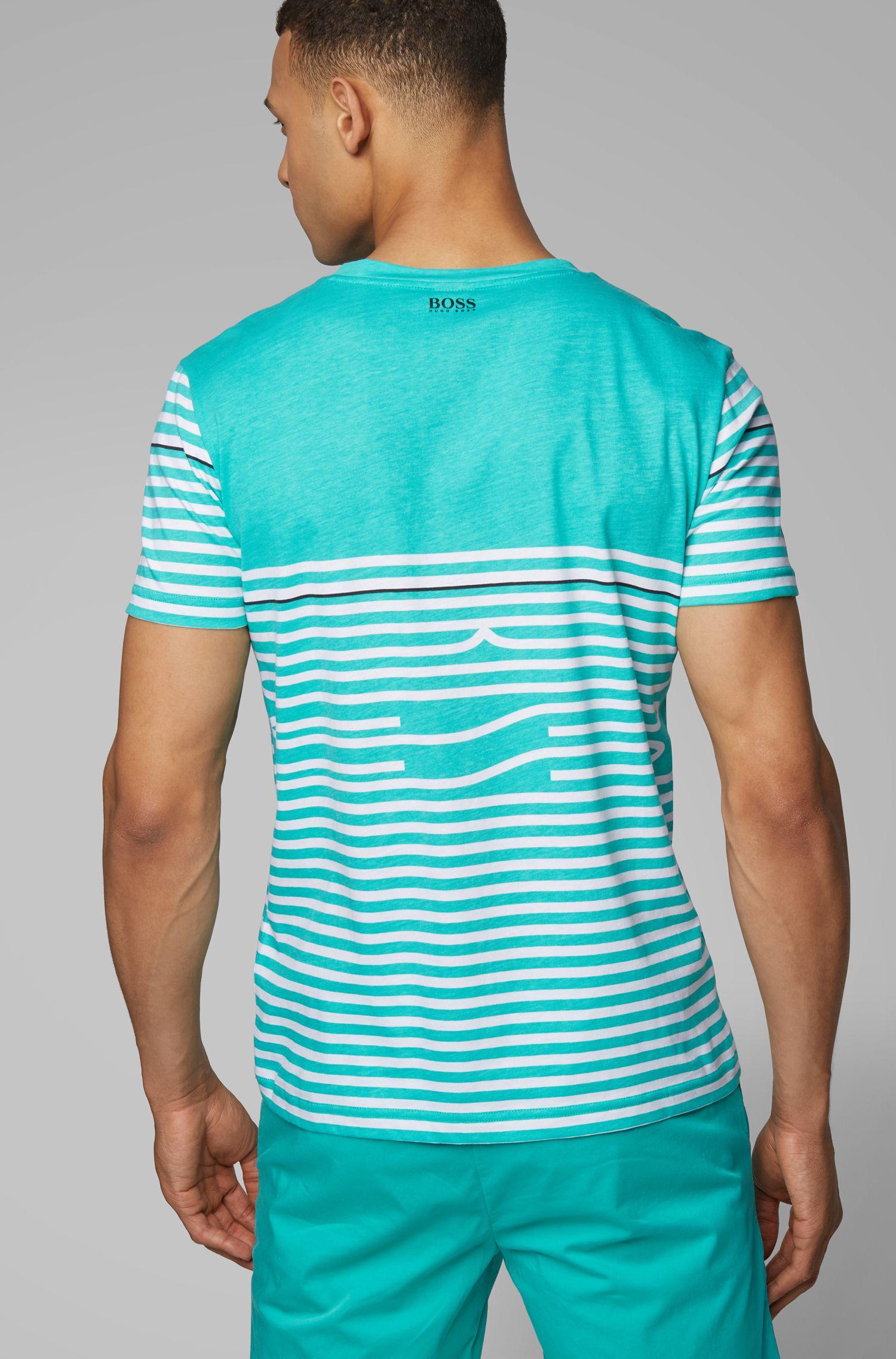 Camiseta de algodón con diseño a rayas, Cal