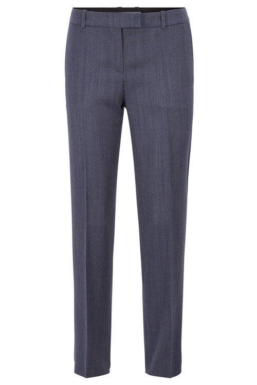 Hugo Boss - Relaxed-fit trousers in micro-patterned Italian virgin wool - 1