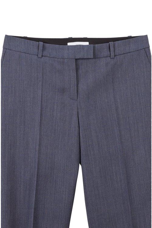 Hugo Boss - Relaxed-fit trousers in micro-patterned Italian virgin wool - 6
