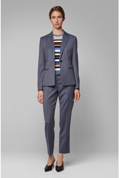 Hugo Boss - Relaxed-fit trousers in micro-patterned Italian virgin wool - 3