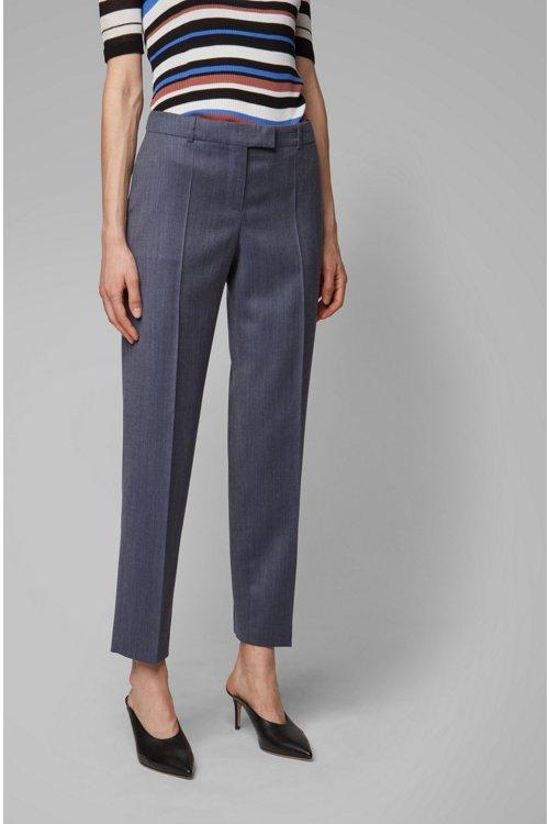 Hugo Boss - Relaxed-fit trousers in micro-patterned Italian virgin wool - 2