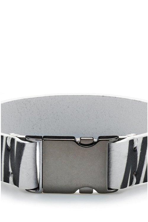 Hugo Boss - Armband aus italienischem Leder mit Bärenmotiv - 3