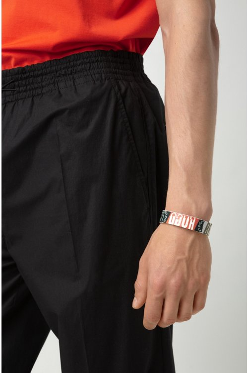 Hugo Boss - Armband aus italienischem Leder mit Bärenmotiv - 2