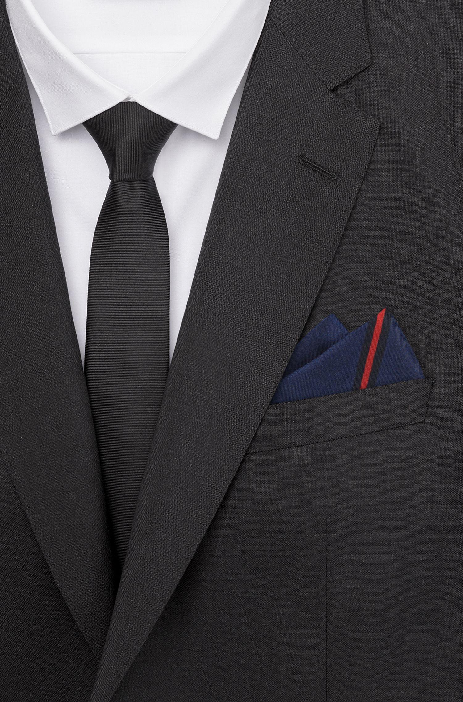 Hugo Boss - Pañuelo de bolsillo en sarga de seda con estampado digital - 2