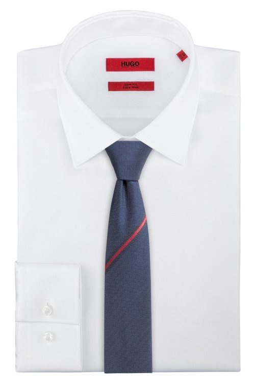 Hugo Boss - Sportswear-inspired tie in silk jacquard - 2