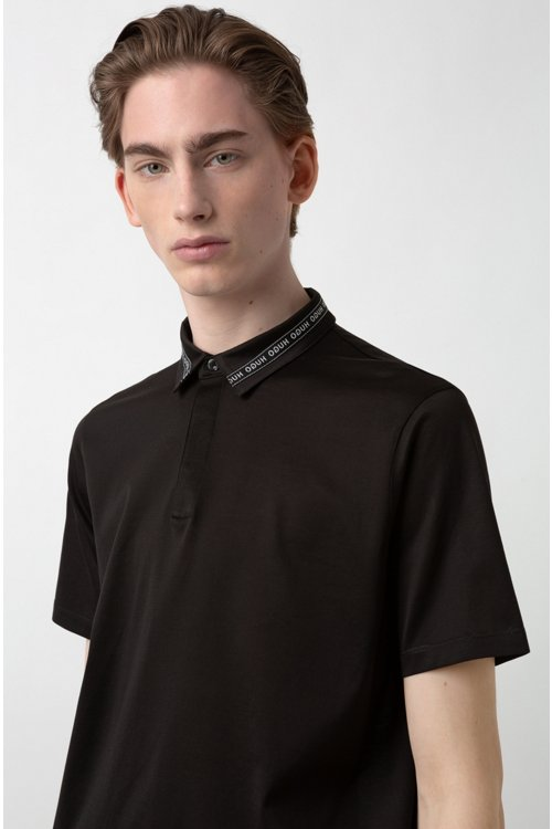 Hugo Boss - Polo Slim Fit en coton mercerisé, avec col à ruban logo - 3