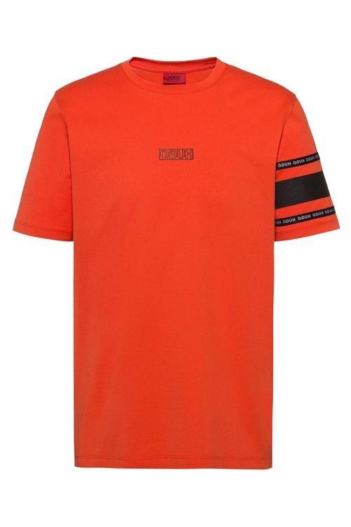 Hugo Boss - Camiseta con logo invertido en punto de algodón - 1
