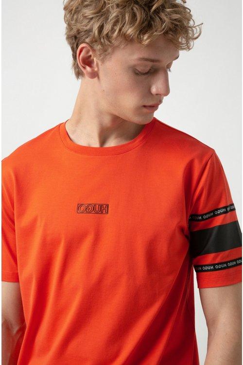 Hugo Boss - Camiseta con logo invertido en punto de algodón - 3