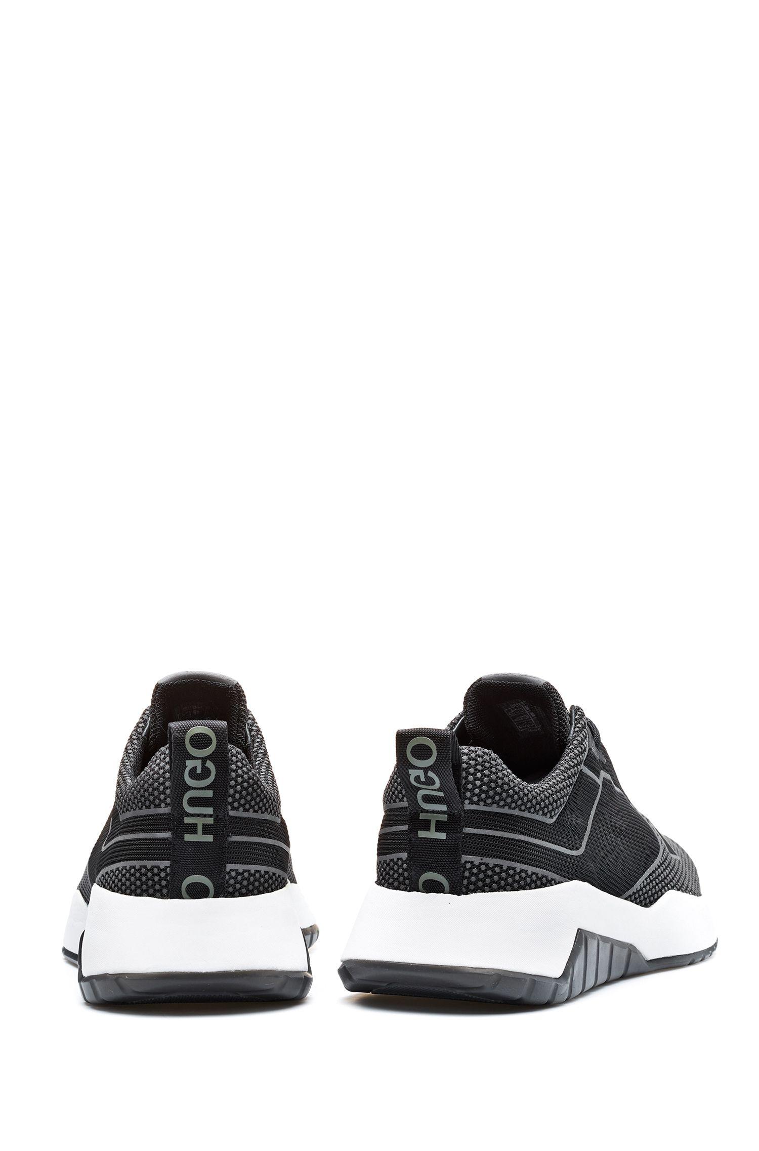 Chunky sneakers con dettagli riflettenti, Nero