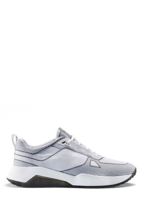 Robuuste sneakers met reflecterende details, Wit