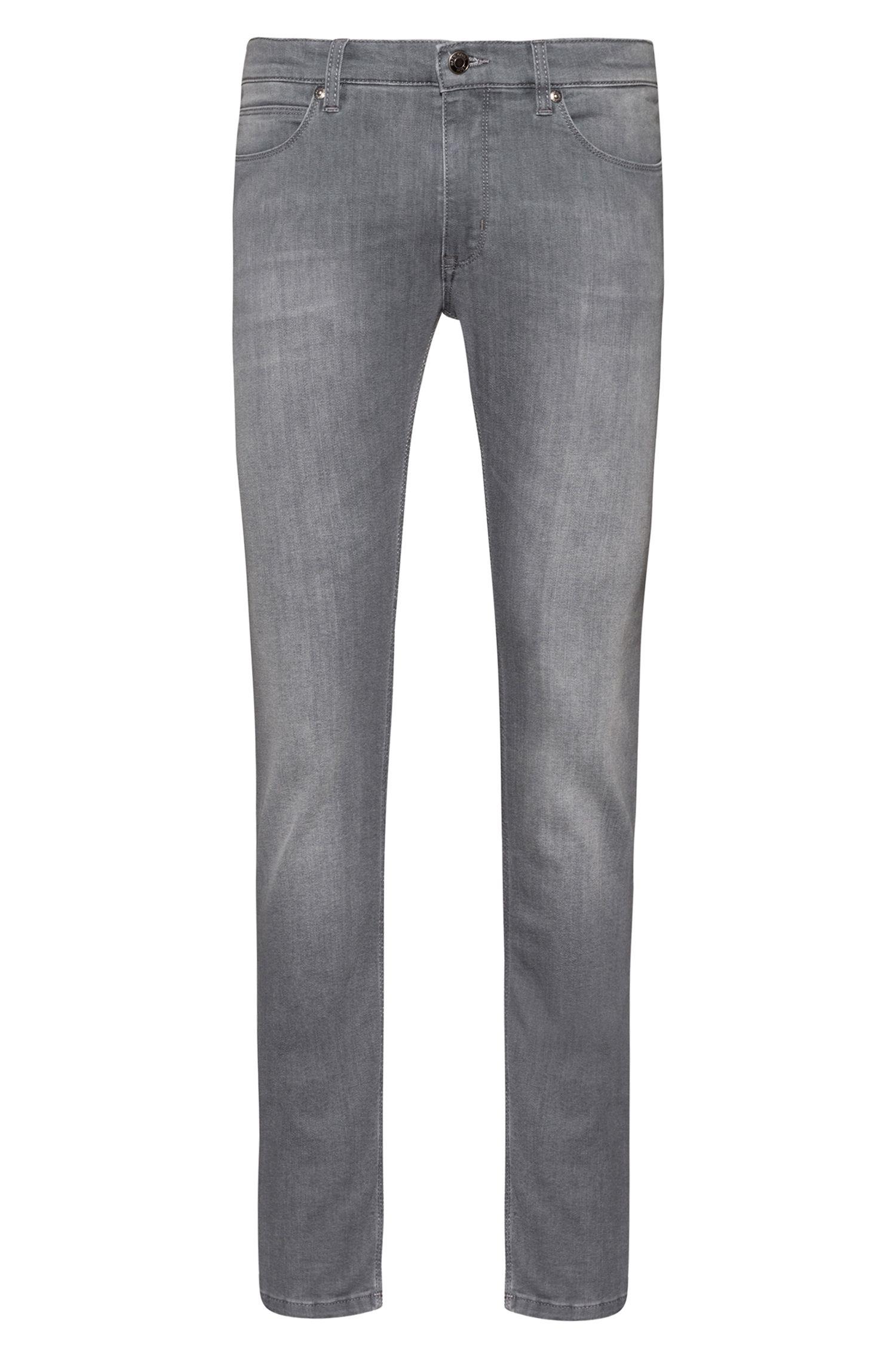 Skinny-fit jeans van licht stretchdenim, Grijs