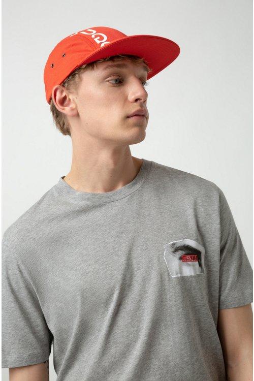 Hugo Boss - Gorra con el logo invertido en tejido de gabardina de algodón - 2