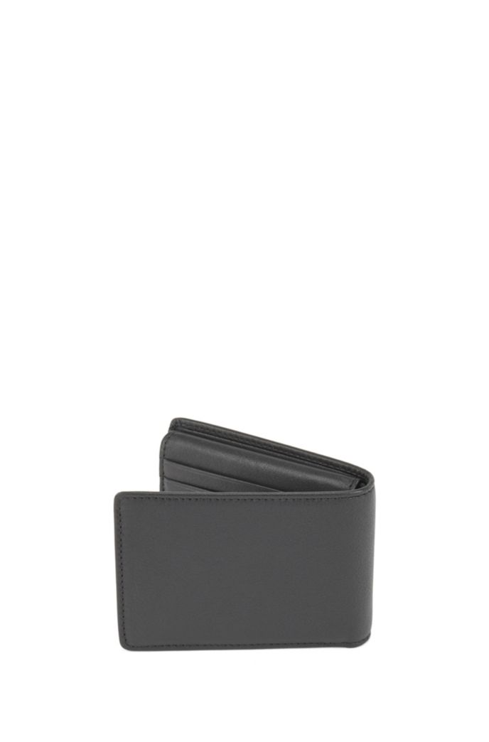 Trifold wallet in nappa leather with coin pocket