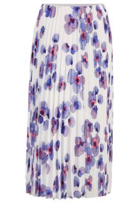 Regular-fit rok met een exclusieve bloemenprint
