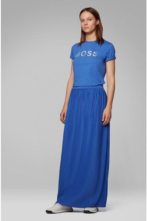 Hugo Boss - Camiseta de cuello redondo en algodón con logo estampado de lámina - 2