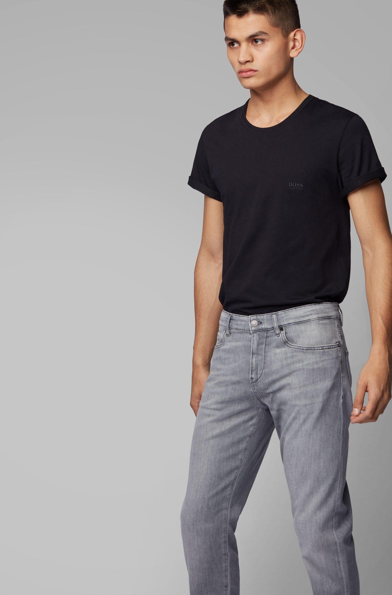 Slim-Fit Jeans aus weichem italienischem Stretch-Denim, Grau