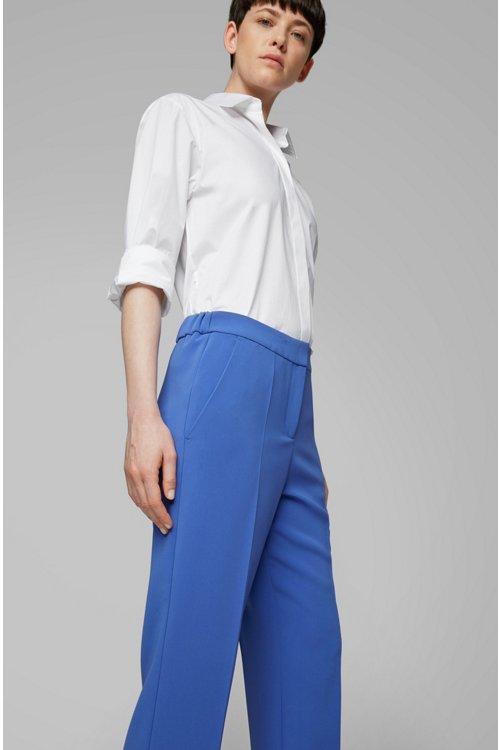 Hugo Boss - Pantalones relaxed fit con cintura elástica en la parte trasera - 4