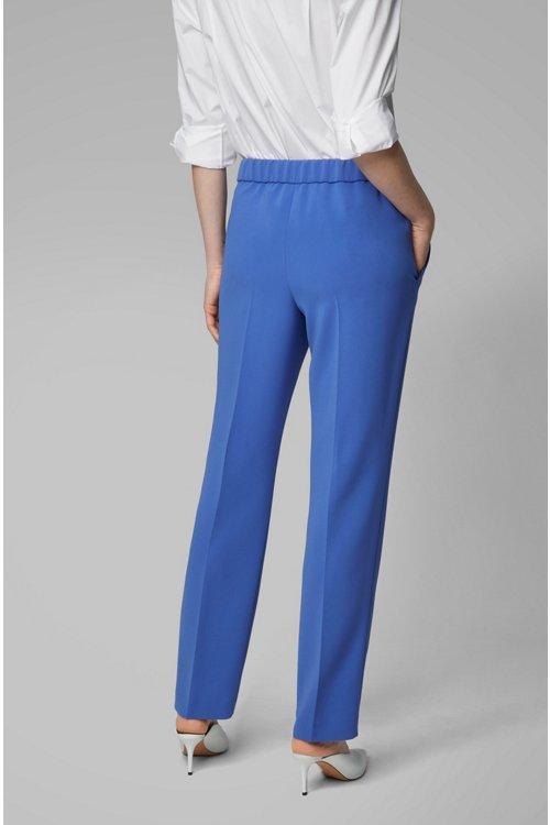 Hugo Boss - Pantalones relaxed fit con cintura elástica en la parte trasera - 5