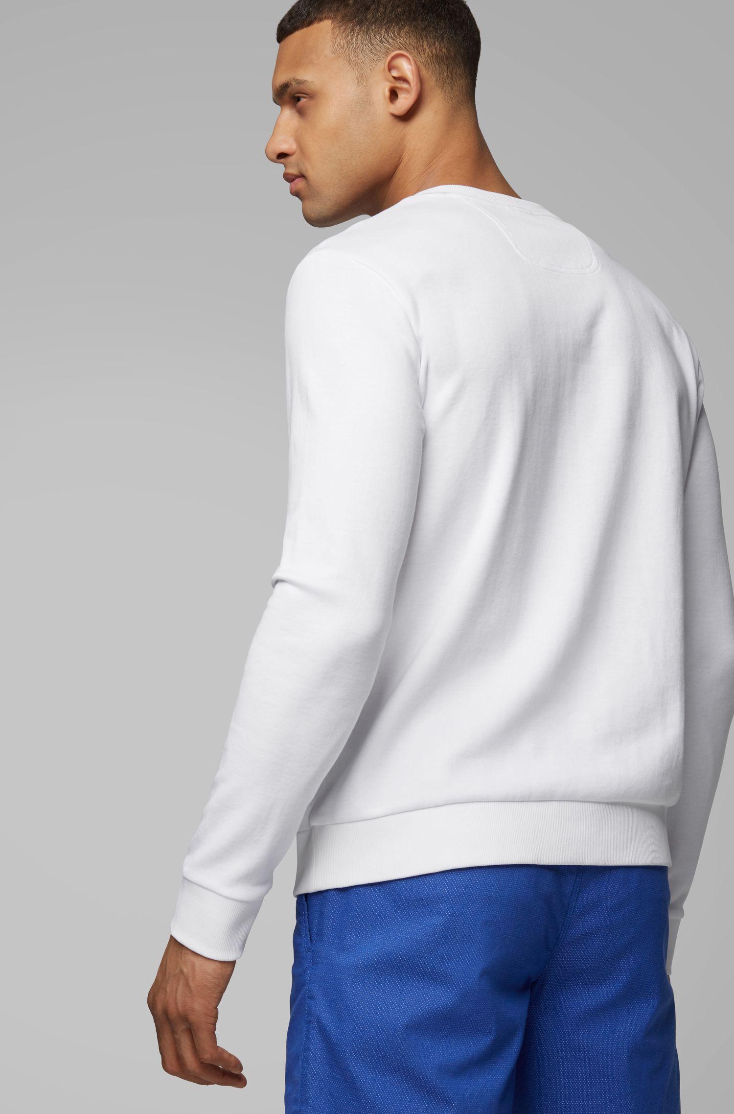 Sweat Slim Fit orné du logo artistique de la saison, Blanc