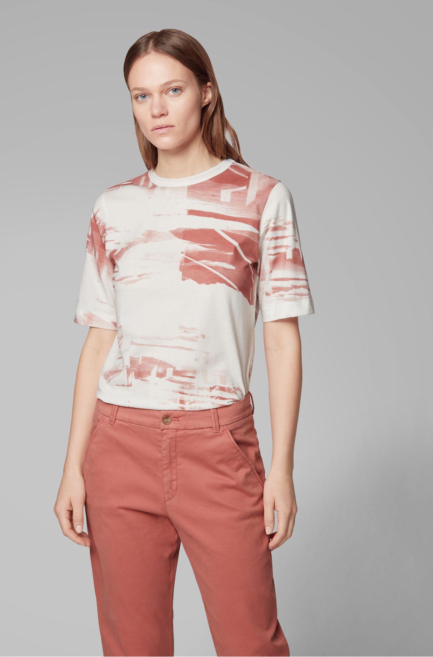 T-shirt Relaxed Fit en coton lavé, avec imprimé de la collection, Fantaisie