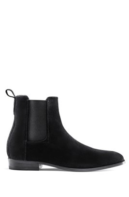 Suede Chelsea boots with a flex-foam insole, Black