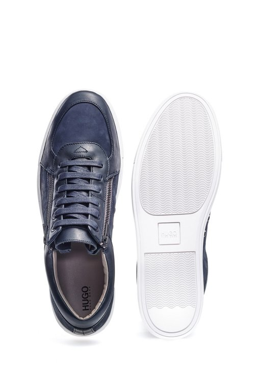Hugo Boss - Zip-up trainers in nubuck and nappa leather - 4