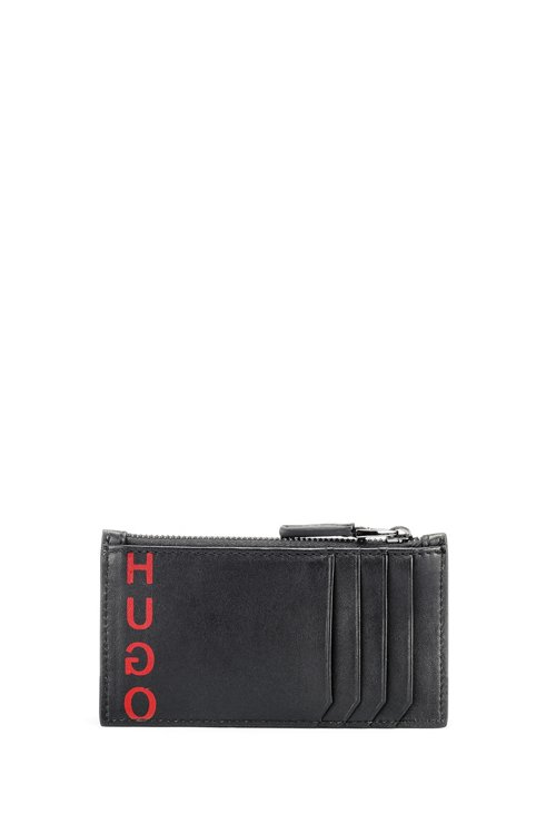 Hugo Boss - Leather card holder with zipped coin pocket - 1