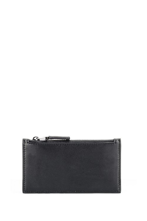 Hugo Boss - Leather card holder with zipped coin pocket - 2