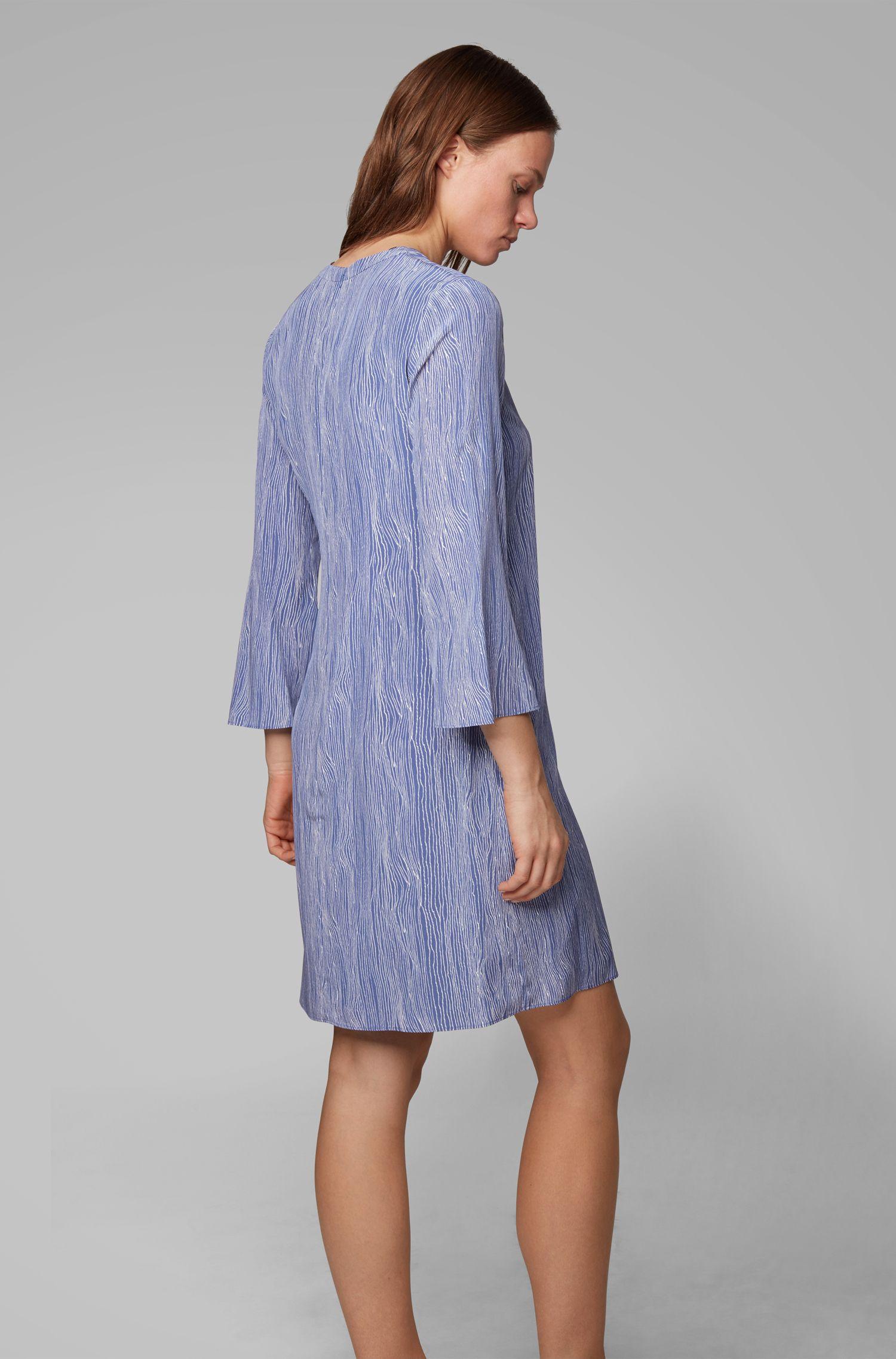 Robe tunique Regular Fit en soie imprimée, Fantaisie