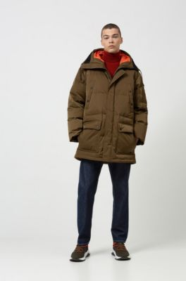 marca famosa 100% autentico diseño superior Abrigo de plumón relaxed fit con ribetes de cinta en la capucha