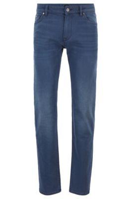 Regular-Fit Jeans aus schwefelgefärbtem Stretch-Denim, Blau