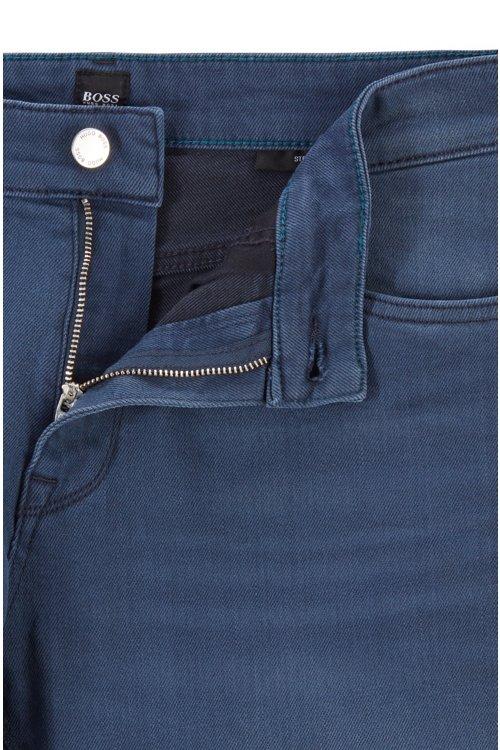 Hugo Boss - Regular-fit jeans in sulphur-dyed comfort-stretch denim - 6