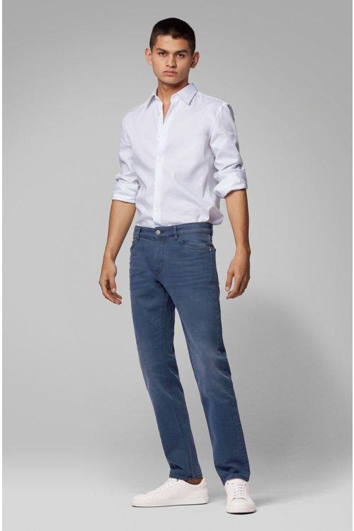 Hugo Boss - Regular-fit jeans in sulphur-dyed comfort-stretch denim - 2