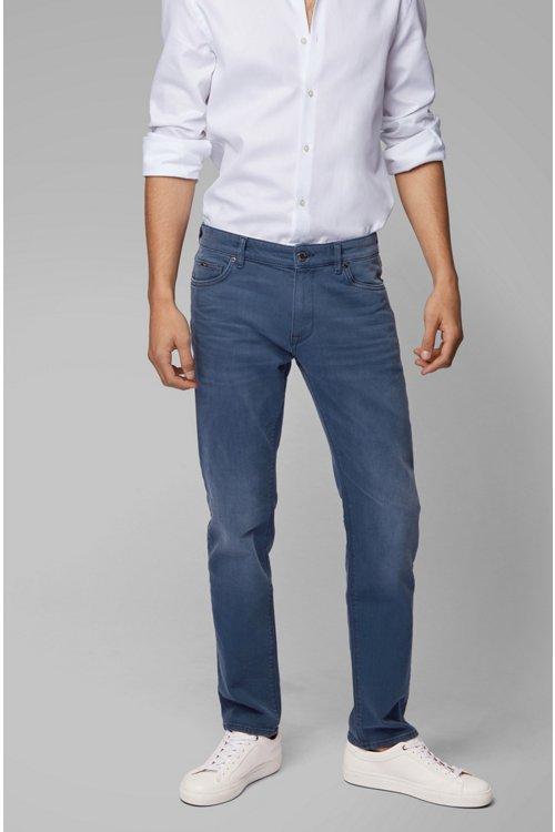 Hugo Boss - Regular-fit jeans in sulphur-dyed comfort-stretch denim - 4