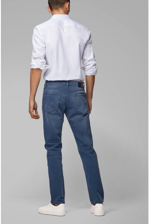 Hugo Boss - Regular-fit jeans in sulphur-dyed comfort-stretch denim - 3