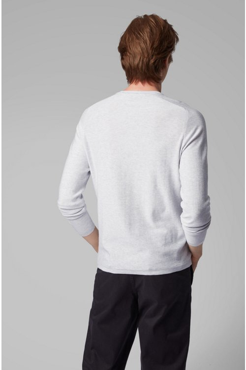 Hugo Boss - Jersey slim fit tejido con diferentes técnicas - 4