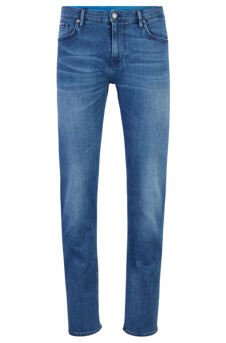 Jean Extra Slim Fit en denim italien, Bleu