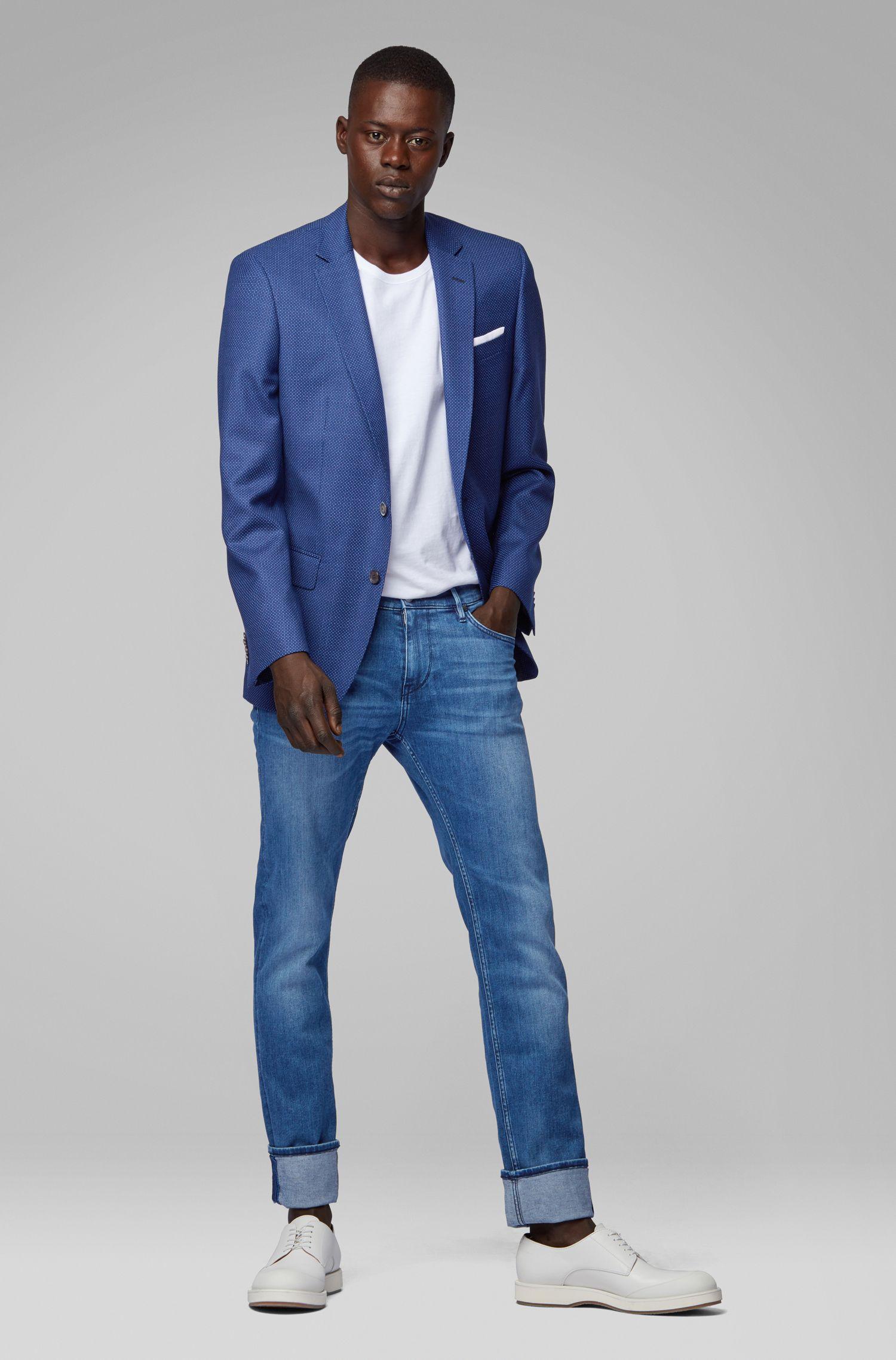 Extra Slim-Fit Jeans aus umweltfreundlichem italienischem Denim, Blau