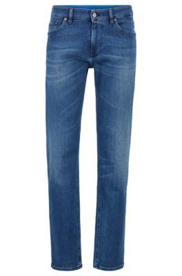 Jean Regular Fit en denim stretch bleu moyen italien, Bleu