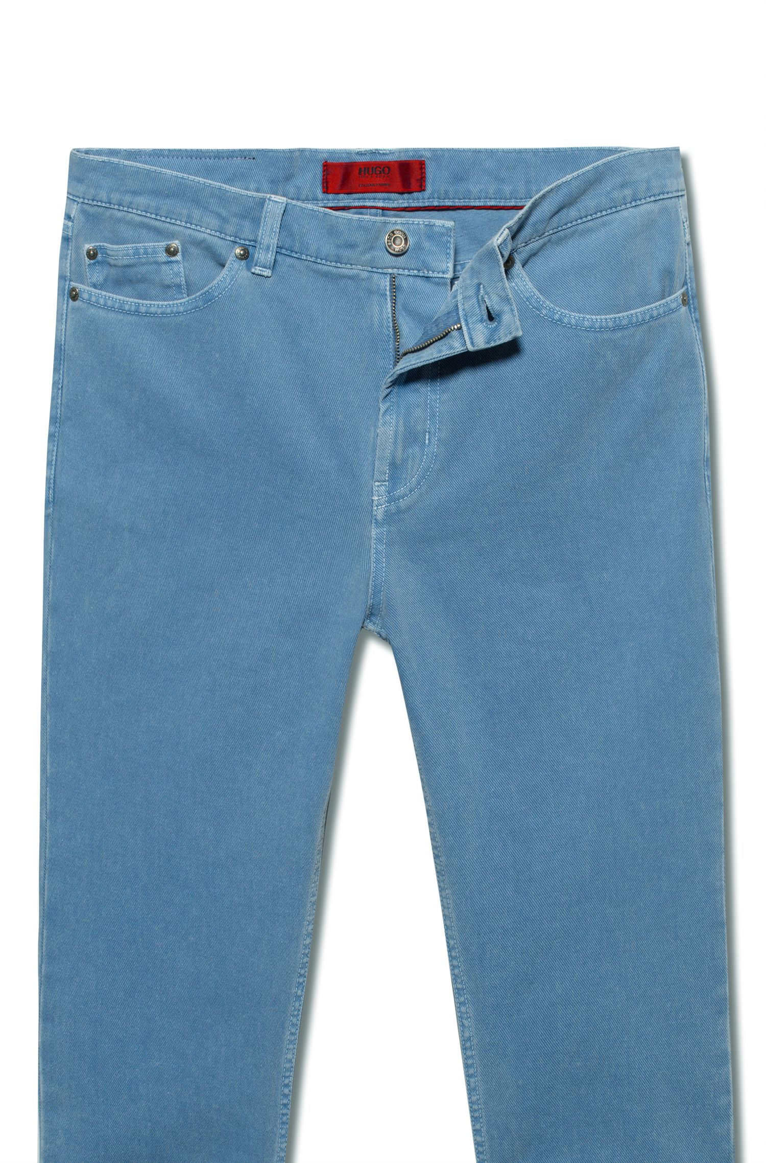 Tapered-fit jeans in overdyed denim, Blue