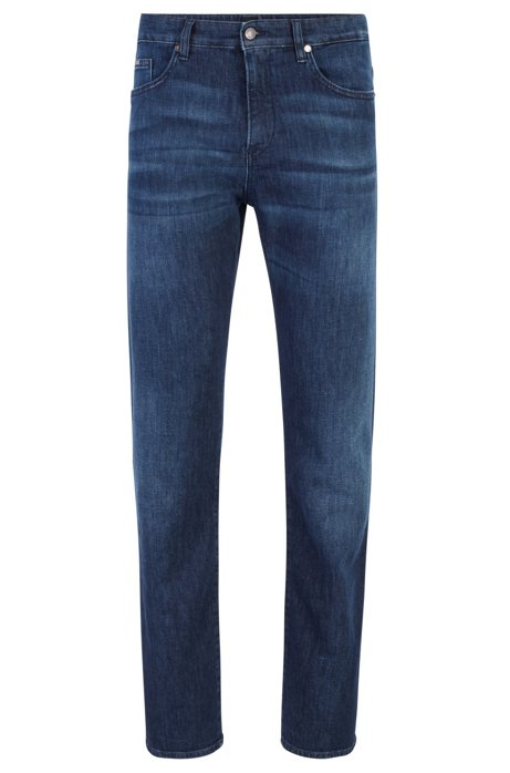 Jean Slim Fit en denim italien léger, Bleu