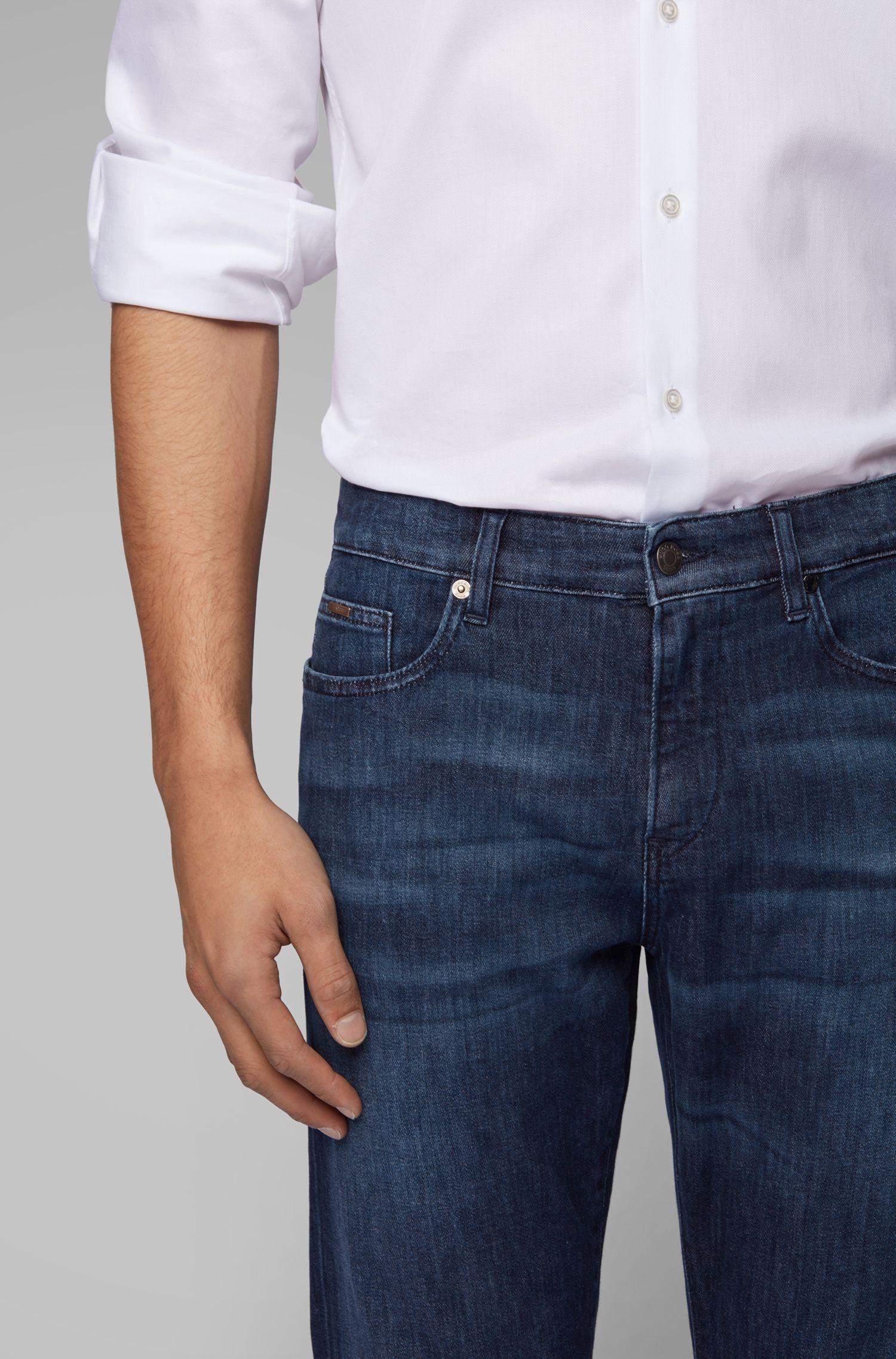 Slim-fit jeans in lightweight eco-friendly Italian denim, Blue