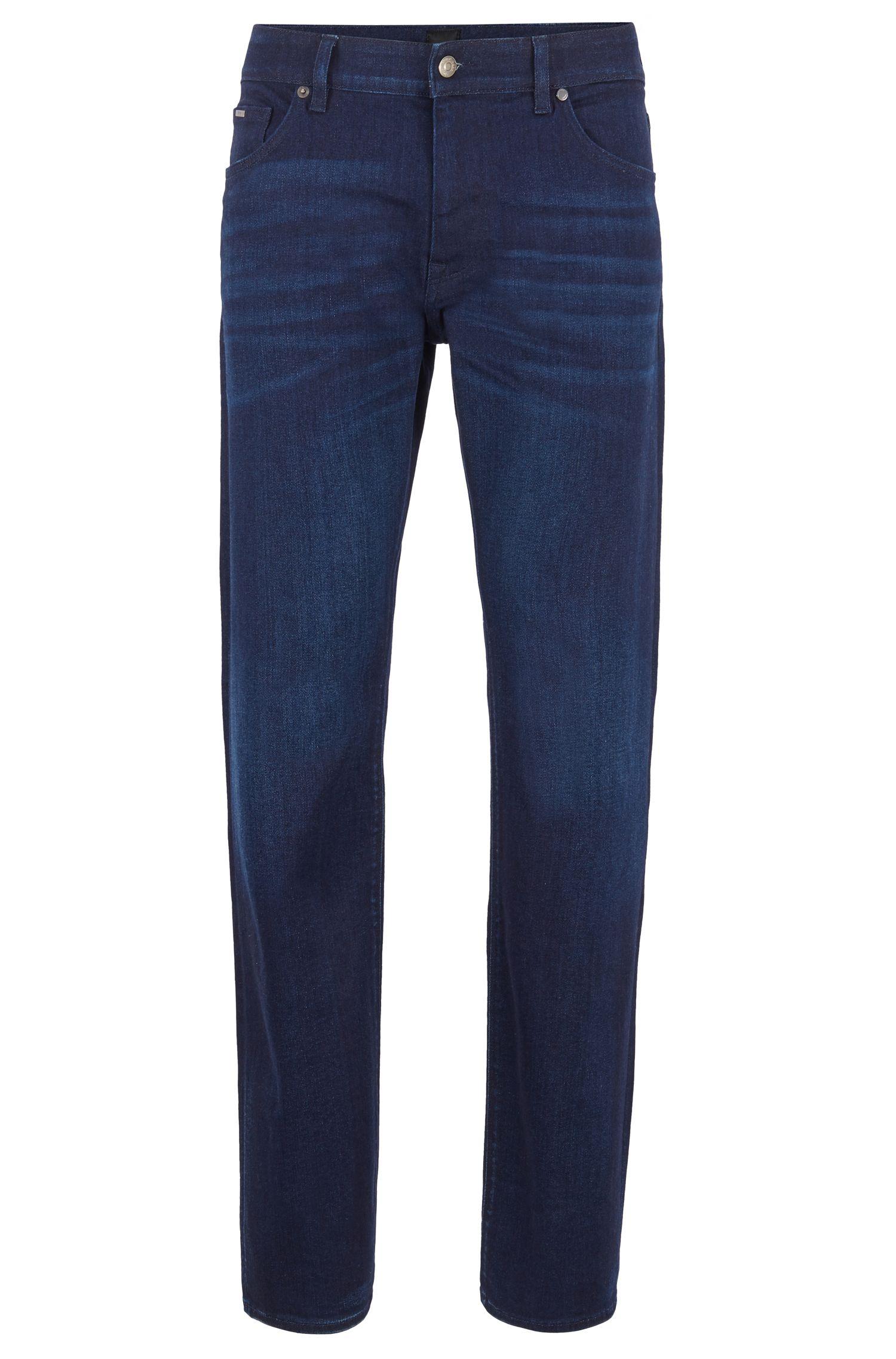 Jean Regular Fit en denim stretch italien bleu foncé, Bleu foncé
