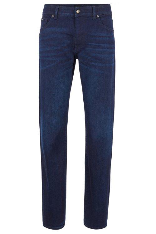 Hugo Boss - Regular-fit jeans in Italian dark-blue stretch denim - 1