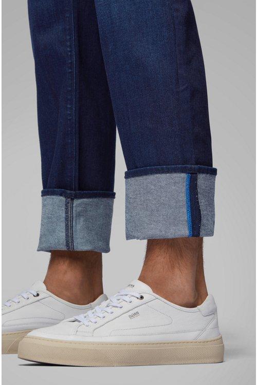 Hugo Boss - Regular-fit jeans in Italian dark-blue stretch denim - 4