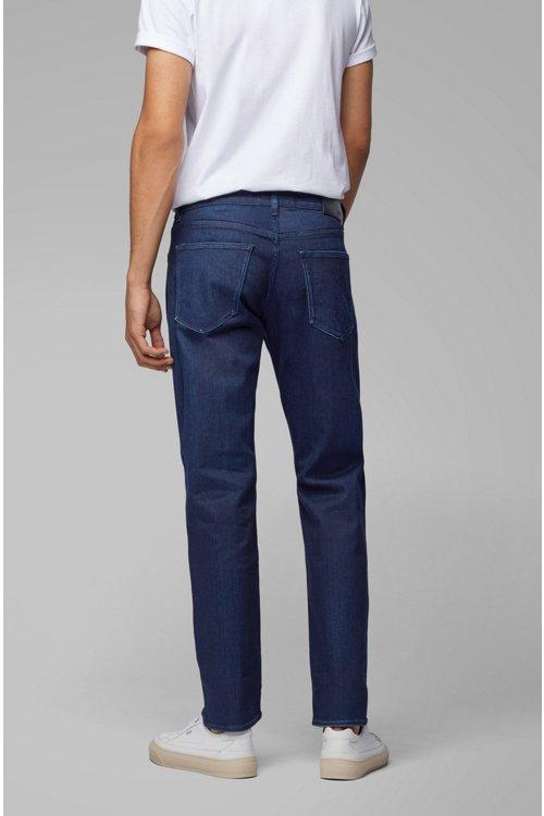 Hugo Boss - Regular-fit jeans in Italian dark-blue stretch denim - 5