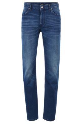Relaxed-Fit Jeans aus italienischem Denim, Blau