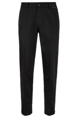 Regular-fit broek van bi-stretchmateriaal, Zwart